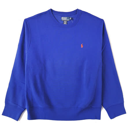 Ralph Lauren 簡單圓領內刷毛大學男T (寶藍)