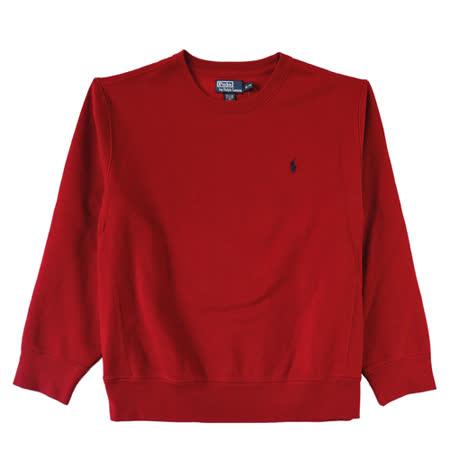 Ralph Lauren 簡單圓領內刷毛大學男T (紅/XL)