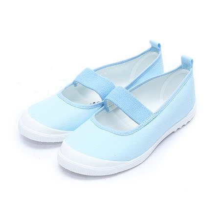 (中大童) MOONSTAR 室內健康鞋 藍 鞋全家福