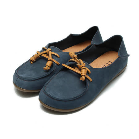 (女) LUZZI 綁帶後踩包鞋 藍 鞋全家福