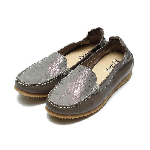 ^(女^) LUZZI 真皮金礦休閒鞋 拿鐵 鞋全家福