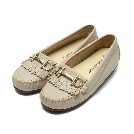 (女) 亞蘭德倫 真皮金釦流蘇休閒鞋 可可 鞋全家福