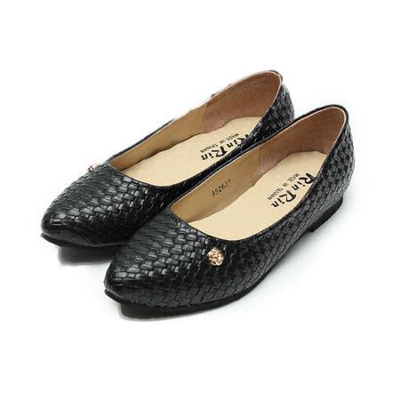 (女) Rin Rin 編織皮肩頭包鞋 黑 鞋全家福
