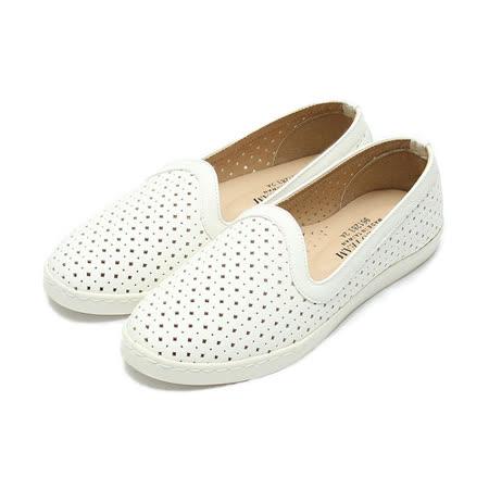 (女) 老船長 洞洞套式平底鞋 白 鞋全家福