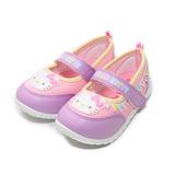 (中小童) HELLO KITTY 大頭派對娃娃鞋 紫 鞋全家福