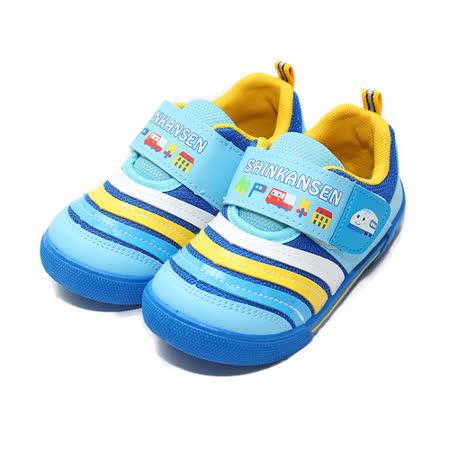(中童) 新幹線 輕量舒適減壓休閒鞋 藍 鞋全家福