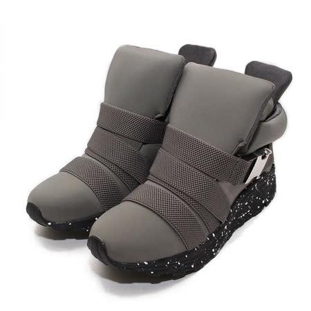 (女) RED ANT 舒適太空繃帶高筒休閒鞋 灰 鞋全家福
