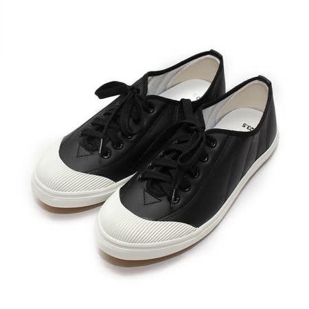 (女) GIOVANNI VALENTINO 復古綁帶休閒鞋 黑 鞋全家福