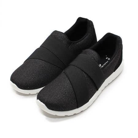(男) GIOVANNI VALENTINO 繃帶系潮流套式休閒鞋 黑 鞋全家福