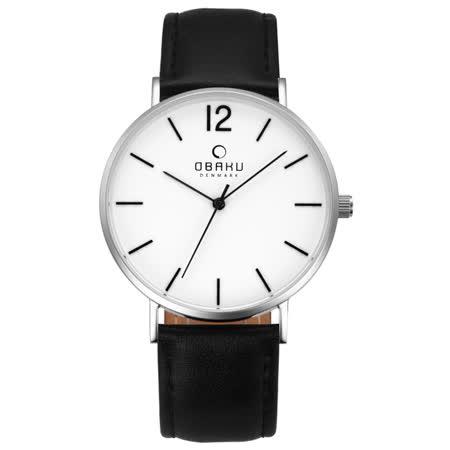 OBAKU 精粹重現十週年限定真皮錶款-V197GXCWRB