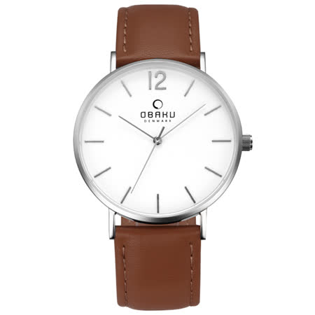 OBAKU 精粹重現十週年限定真皮錶款-V197GXCWRN