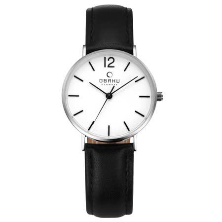 OBAKU 精粹重現十週年限定真皮錶款-V197LXCWRB