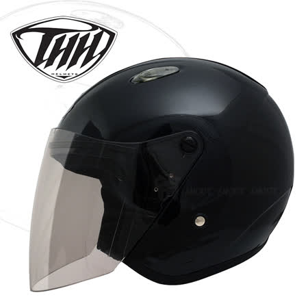【 THH FH-666 素色】強化耐刮鏡片│兩側內襯可拆洗│透氣內裡│頭頂透氣孔可開關