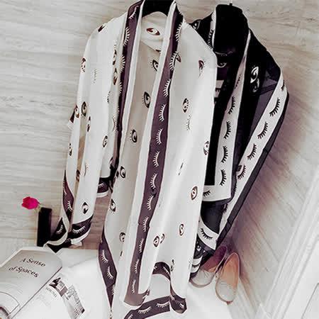 【Lus.G】目不轉睛薄圍巾-共2色