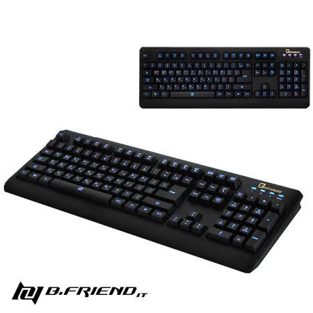【團購2入組】B.Friend GK2遊戲專用發光防水有線鍵盤