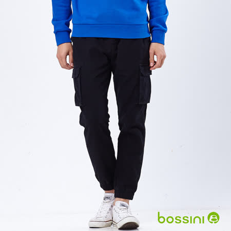 bossini男裝-潮流束口工作褲10黑