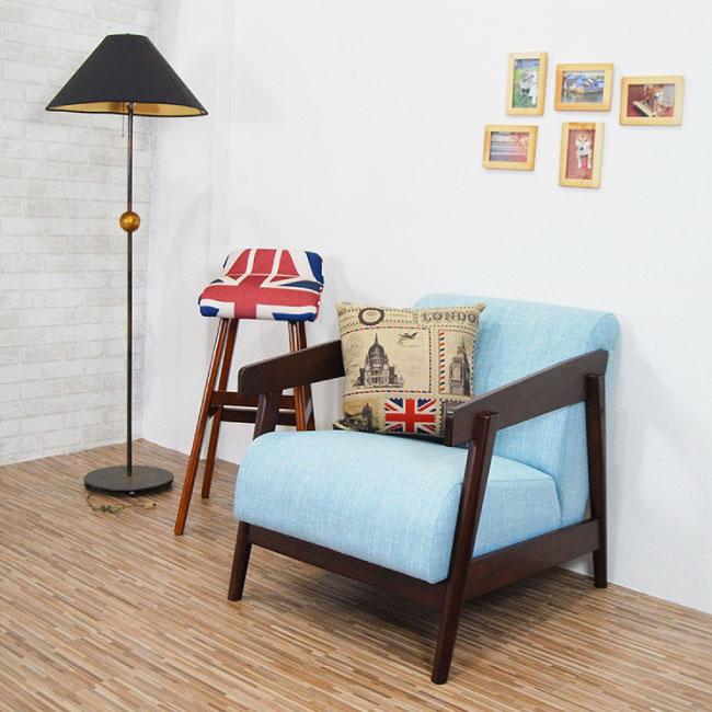優力格 萊茵河北歐風格實木沙發布沙發單人沙發