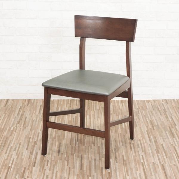 ~優力格 ~實木皮面胡桃色餐椅休閒椅洽談椅書桌椅單椅