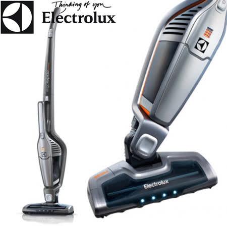 買就送【Electrolux 伊萊克斯】第六代完美管家二合一無線吸塵器(鋼鐵灰)ZB3113(贈彈性軟管+布質沙發吸頭+桌墊)