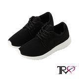 【TRS】透氣網布空氣增高鞋 ↑7cm 經典黑(7100-0022)