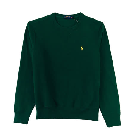 Ralph Lauren V三角直紋內刷毛大學男T(綠)