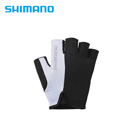 SHIMANO AIRWAY 自行車運動半指手套 黑/白