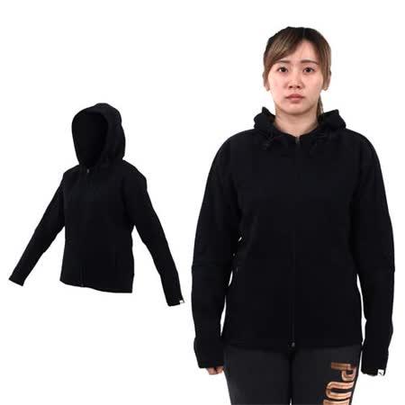 (女) PUMA 基本系列連帽外套-路跑 慢跑 黑銀