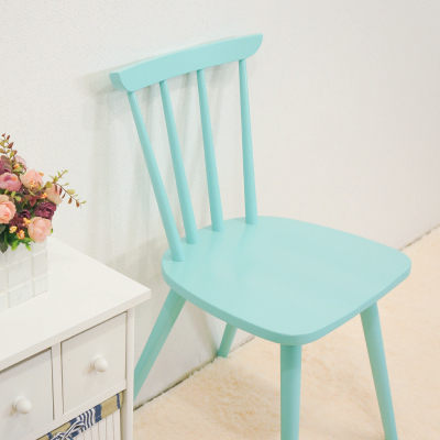 ~優力格 ~實木蒂芬妮藍餐椅洽談椅書房椅單人椅 2色