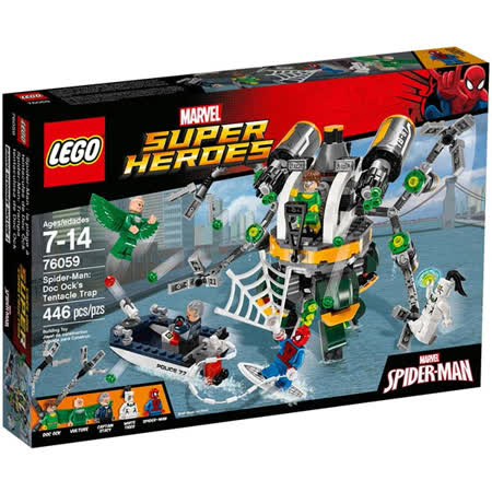 LEGO《 LT76059 》SUPER HEROES  - 蜘蛛人 : Doc Ocks Tentacle Trap