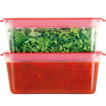 《TESCOMA》Purity可微波保鮮盒2入(紅300ml)