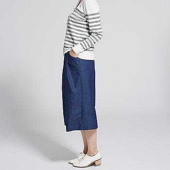 女帥氣牛仔寬褲-深藍(M/L)