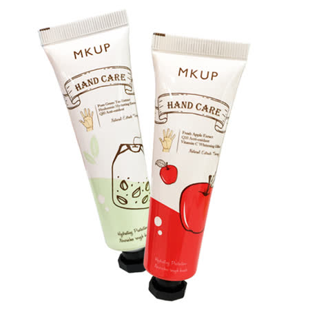 MKUP 美咖 護手霜(30ml)兩款可選 綠茶精粹保濕/蘋果賦活抗氧