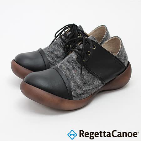 RegettaCanoe _(男款)CJFS-6903優雅樂步休閒鞋-經典黑