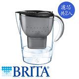 德國 BRITA 馬利拉濾水壺3.5L-星燦黑+濾芯2入