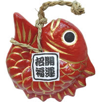 【波克貓哈日網】日本吉祥掛飾◇開運招福◇《招福目出鯛》