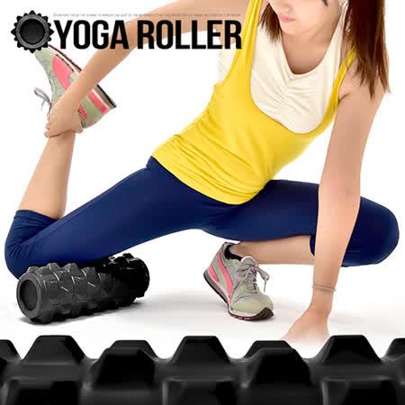 特硬PU深層加強狼牙棒C109-5702 凸狀顆粒瑜珈滾輪.美人棒瑜珈柱指壓瑜珈棒.深度按摩滾筒FOAM ROLLER.運動健身器材