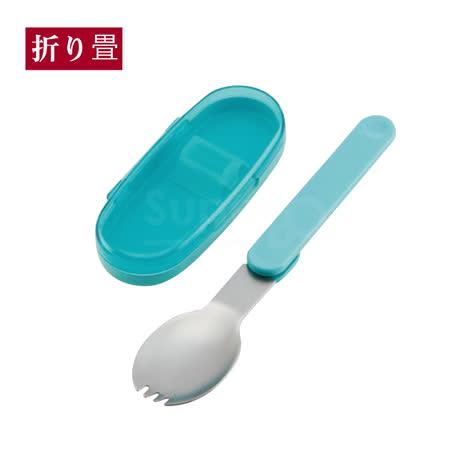 日本Skater折疊湯匙盒裝-藍