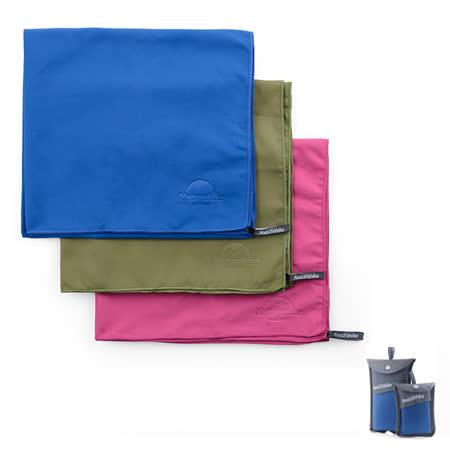 PUSH!旅遊戶外休閒用品 抑菌旅行浴巾超強吸水速乾浴巾S46藍色