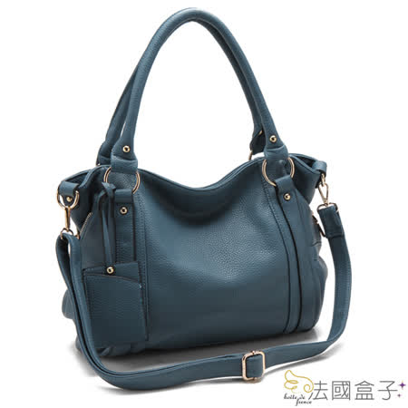 【法國盒子】甜美微漾吊牌二用包(藍色)08370