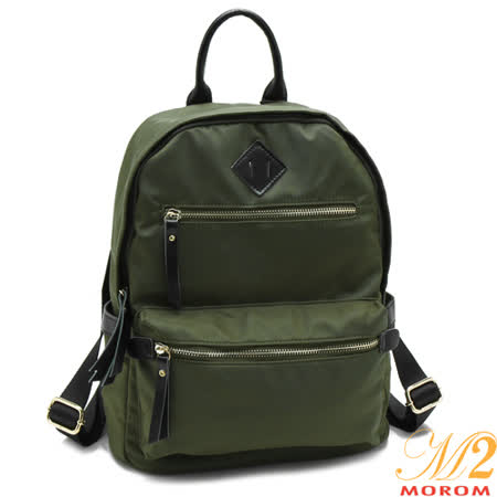 【MOROM】真皮輕量休閒後背包(墨綠)N818