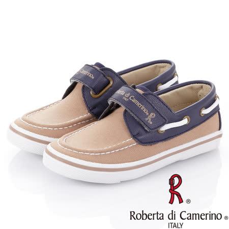 Roberta諾貝達 百搭舒適減壓鞋墊帆船帆布鞋 131-卡其