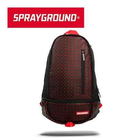 【SPRAYGROUND】DLXX 系列 Origami Rubber 黑紅摺紙橡膠潮流筆電後背包