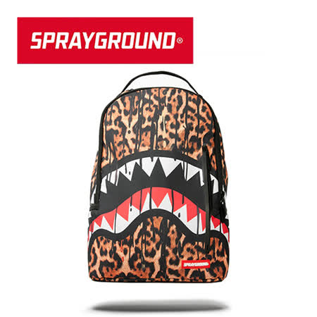 【SPRAYGROUND】DLX 系列 Leopard Drips 豹紋鯊魚潮流筆電後背包