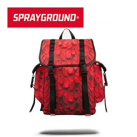 【SPRAYGROUND】RECON 系列 Red Wing 紅色翅膀掀蓋抽繩筆電後背包