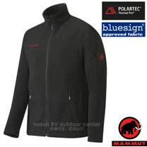 【瑞士 MAMMUT 長毛象】男新款 Innominata 超強快乾彈性保暖夾克外套(Polartec Thermal Pro)類羊毛中層排汗衣.透氣刷毛/21800-0001 黑