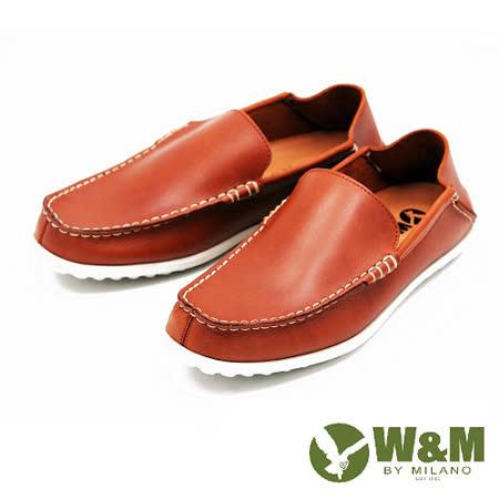 W&M 極簡雅痞懶人鞋休閒鞋 男鞋-棕(另有黑)