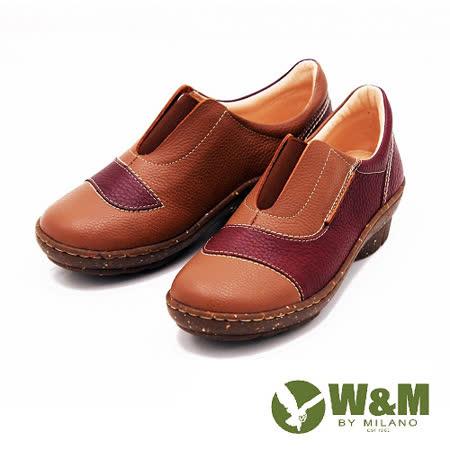 W&M 獨家配色 楔形跟休閒女鞋-棕(另有藍)