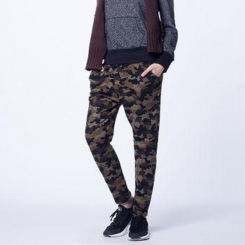 女法國絨長褲-綠迷彩(F)