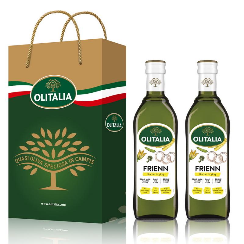 Olitalia奧利塔高溫專用葵花油禮盒組750mlx2瓶