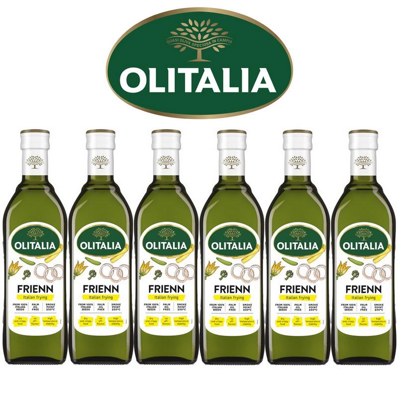 Olitalia奧利塔高溫專用葵花油禮盒組750mlx6瓶